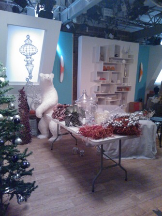 The Christmas set for 'Christmas Kitchen'
